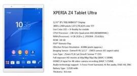 Sony Xperia Z4 Tablet Ultra - 13 palců, Snapdragon 810 a 6GB RAM [spekulace]