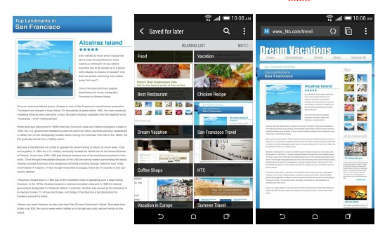 HTC má v Obchodě Play vlastní internetový prohlížeč