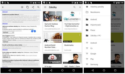 Chrome pro Android získává nové funkce s verzí 40