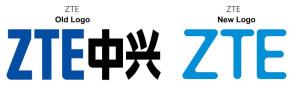 Staré a nové logo ZTE