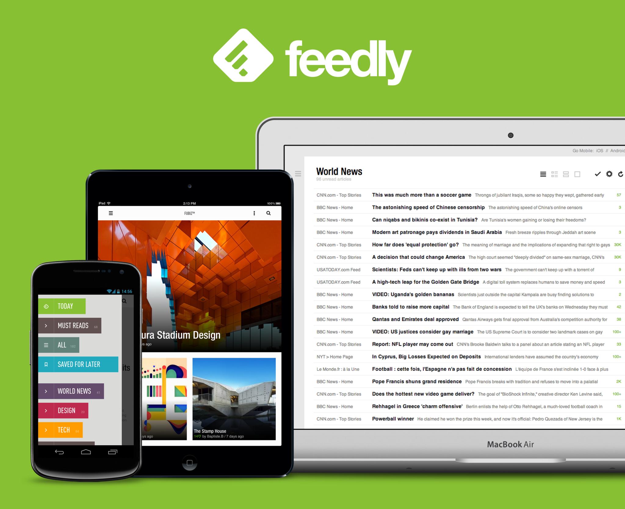 Dotekománie doporučuje #76 – komfortní čtení zpráv s Feedly [iOS, Android]