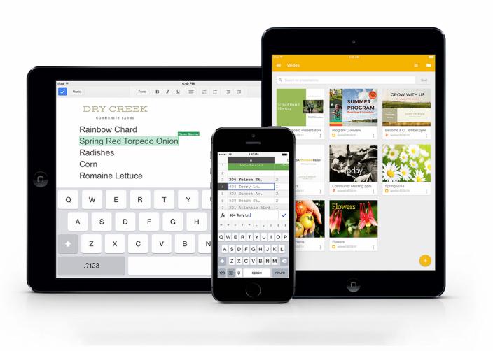 Aktualizace pro Google Dokumenty, Tabulky a Prezentace [iOS, Android]