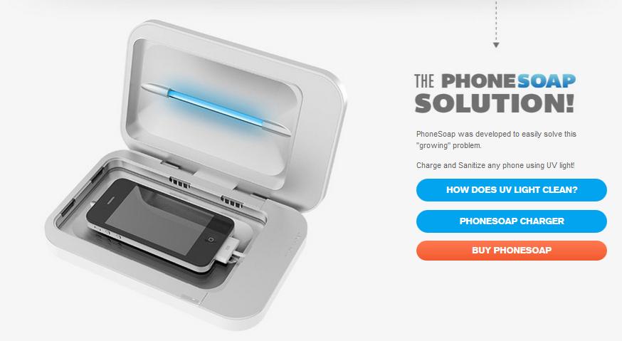 PhoneSoap – sterilizuje a nabije vaše zařízení
