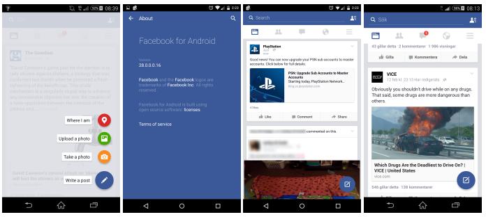 Facebook testuje aplikaci s Material Designem