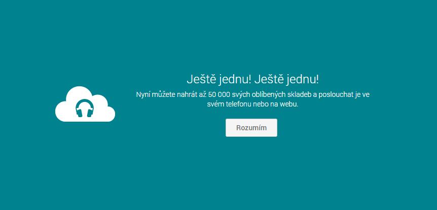 Google Play Hudba – nahrajte si 50 000 písniček
