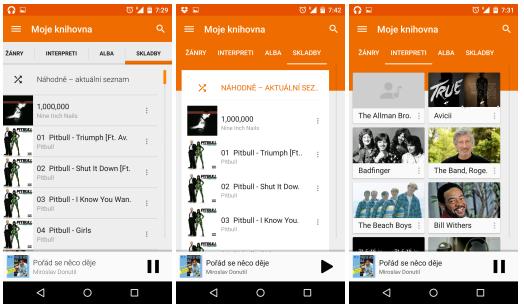 Google Play Music pro Android – změny ve vzhledu