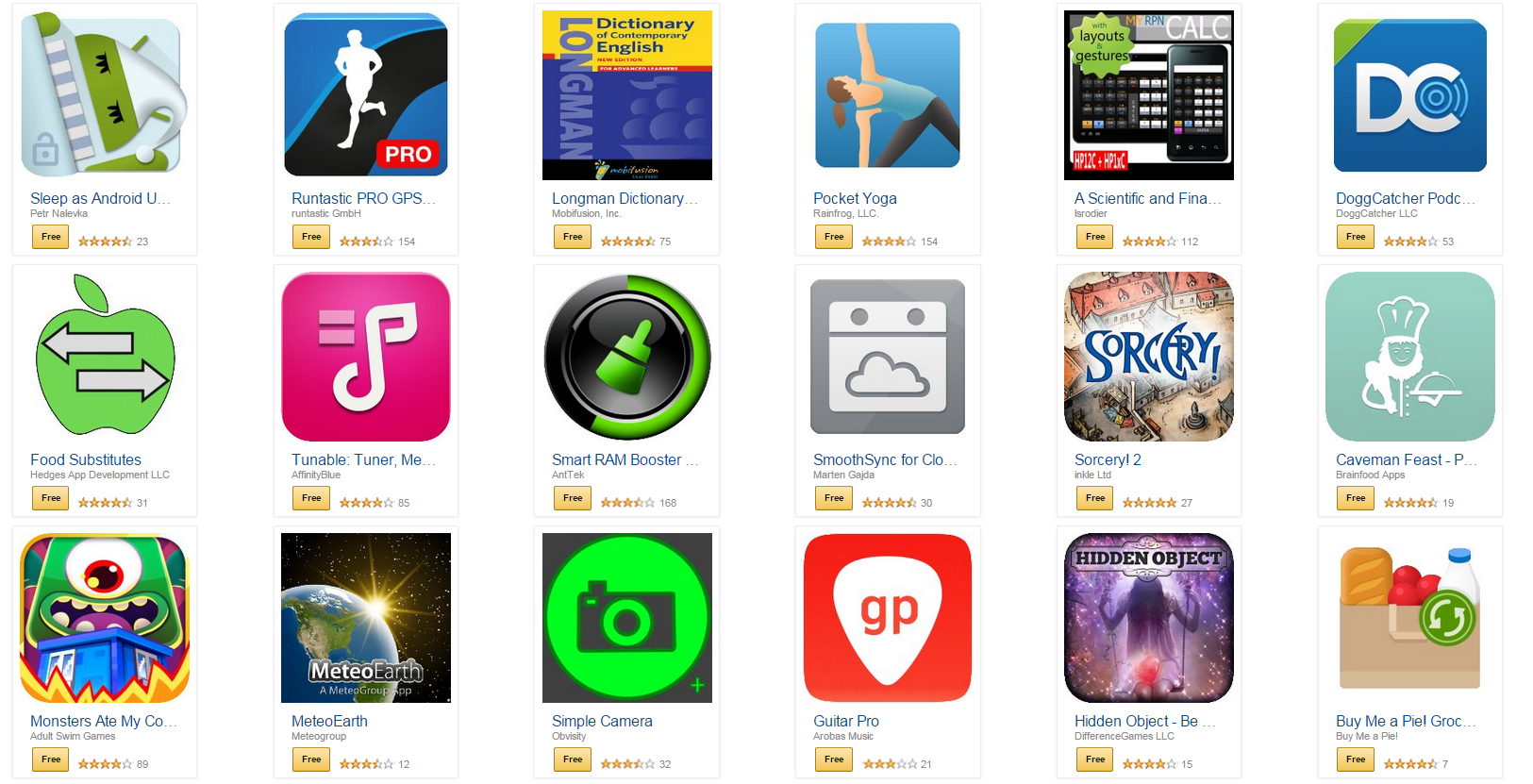 Další várka aplikací od Amazonu zdarma v hodnotě 3 400 Kč