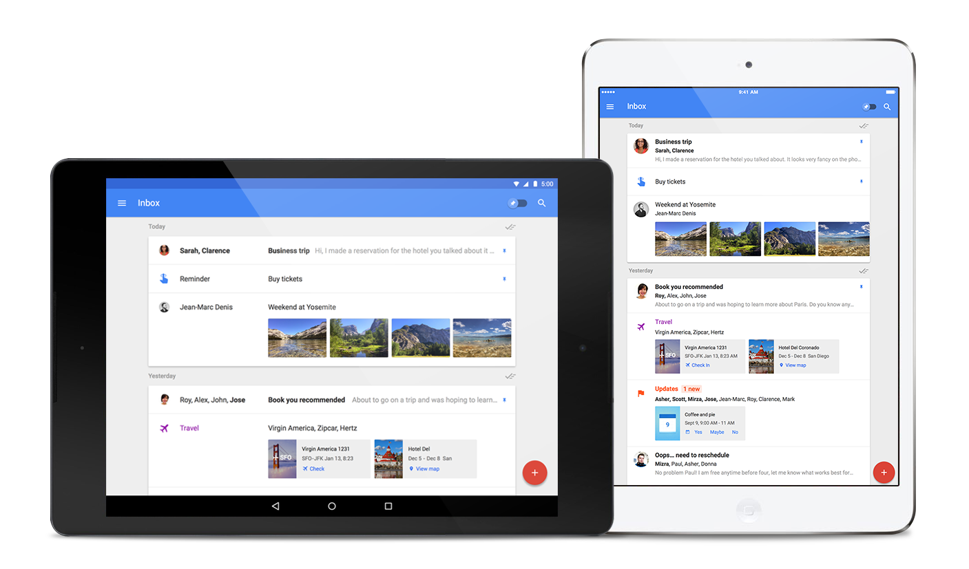 Google Inbox – nyní pro iPady, Firefox a Safari