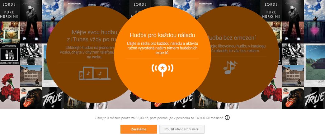 Google Play slaví narozeniny  – 3 měsíce hudby za 33 Kč [aktualizováno]