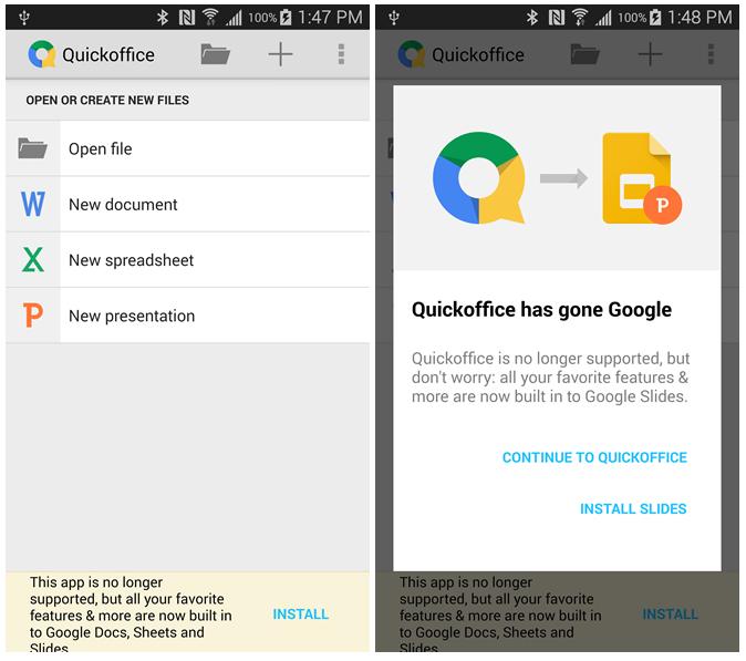 Quickoffice pro Android definitivně končí