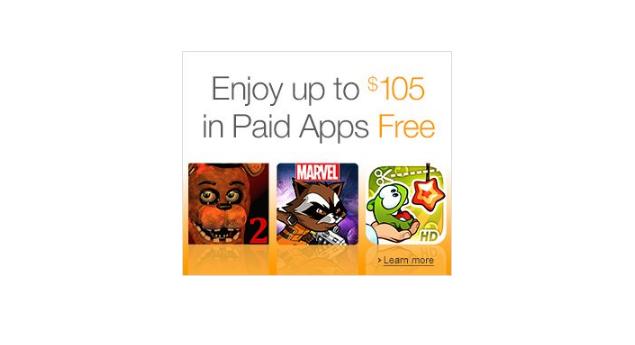 Amazon rozdává placené aplikace za cenu 2700 Kč zcela zdarma