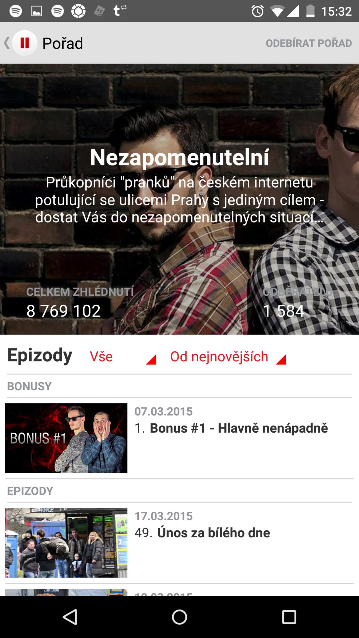 Stream.cz pro Android ve verzi 2.0