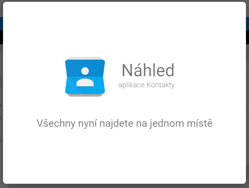 Google Kontakty – preview nové webové služby