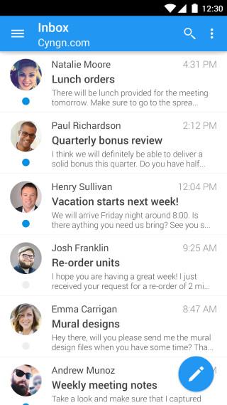 Cyanogen Email – Boxer v novém kabátě