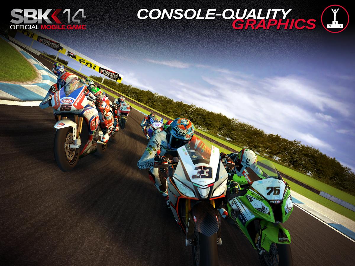 Parádní závody motocyklů – SBK14 Official Mobile Game