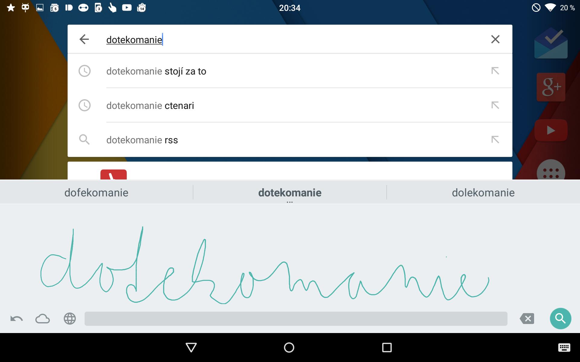 Psaní rukou Google – nová aplikace pro psaní