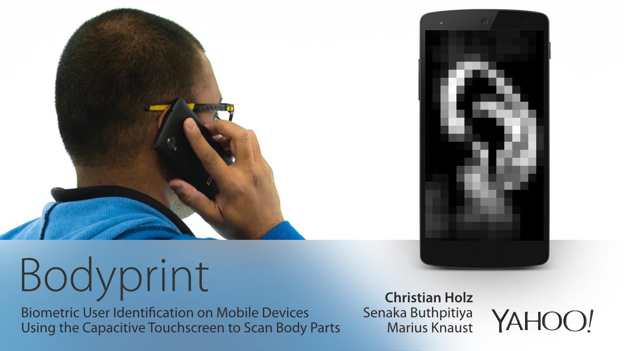 Bodyprint – nový způsob ověření uživatele
