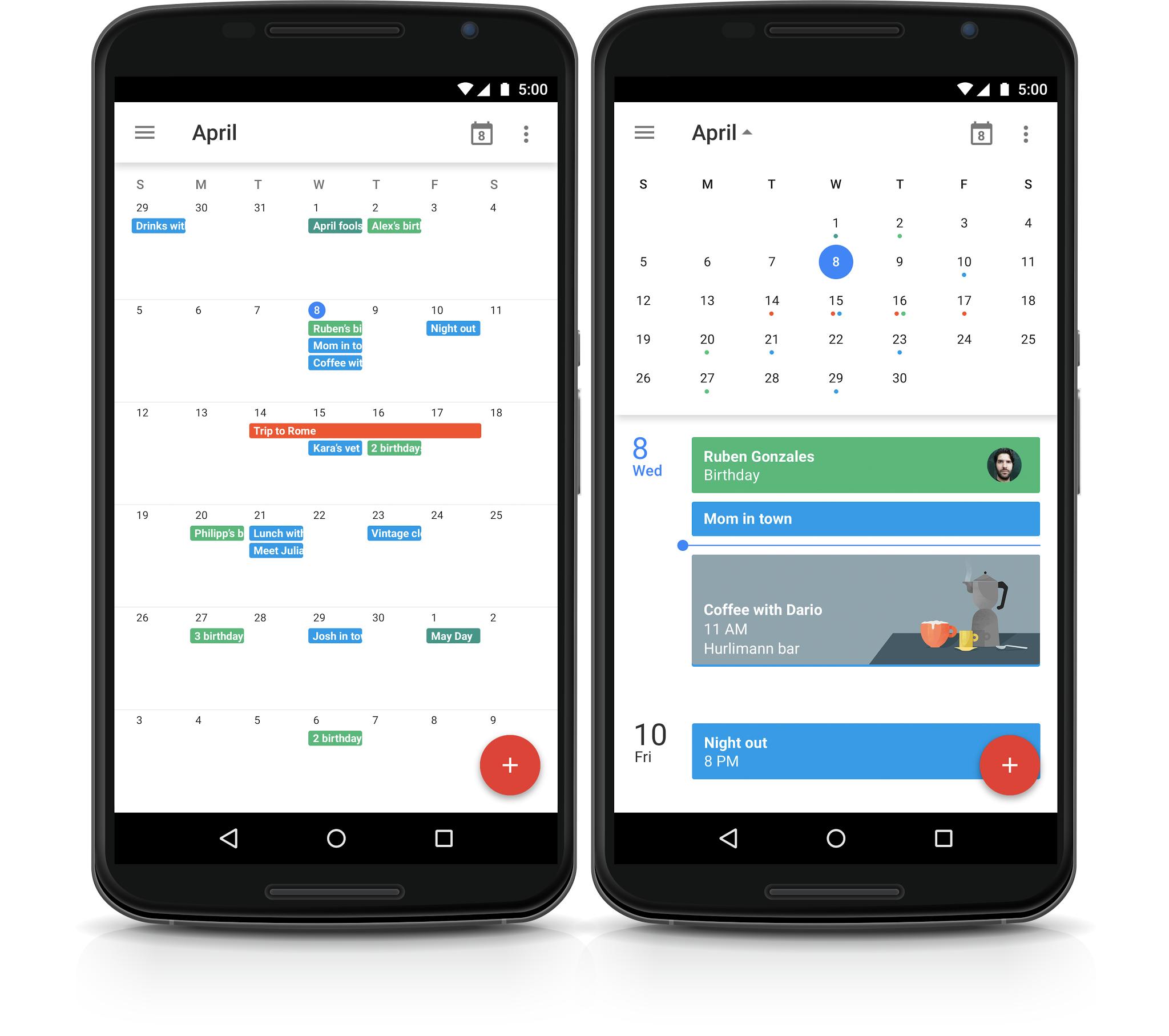 Google Kalendář – měsíční zobrazení je zpět