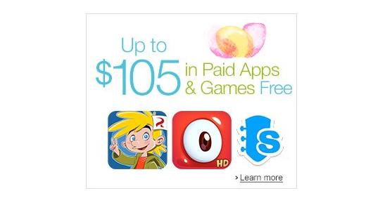 Aplikace a hry za 2700 Kč zdarma v Amazon Appstore