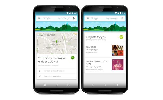 Google Now nyní podporuje přes 90 aplikací
