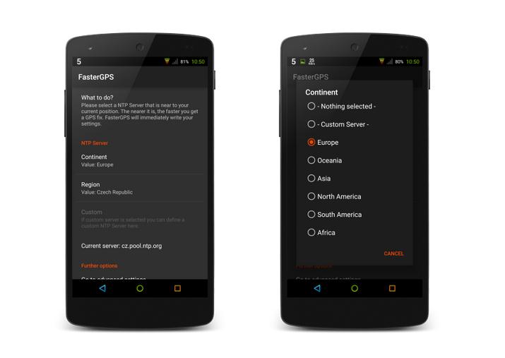 FasterGPS – zrychlení připojení k GPS pro Android