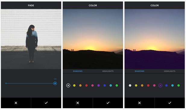 Instagram přidává 3 nové nástroje na úpravu fotek