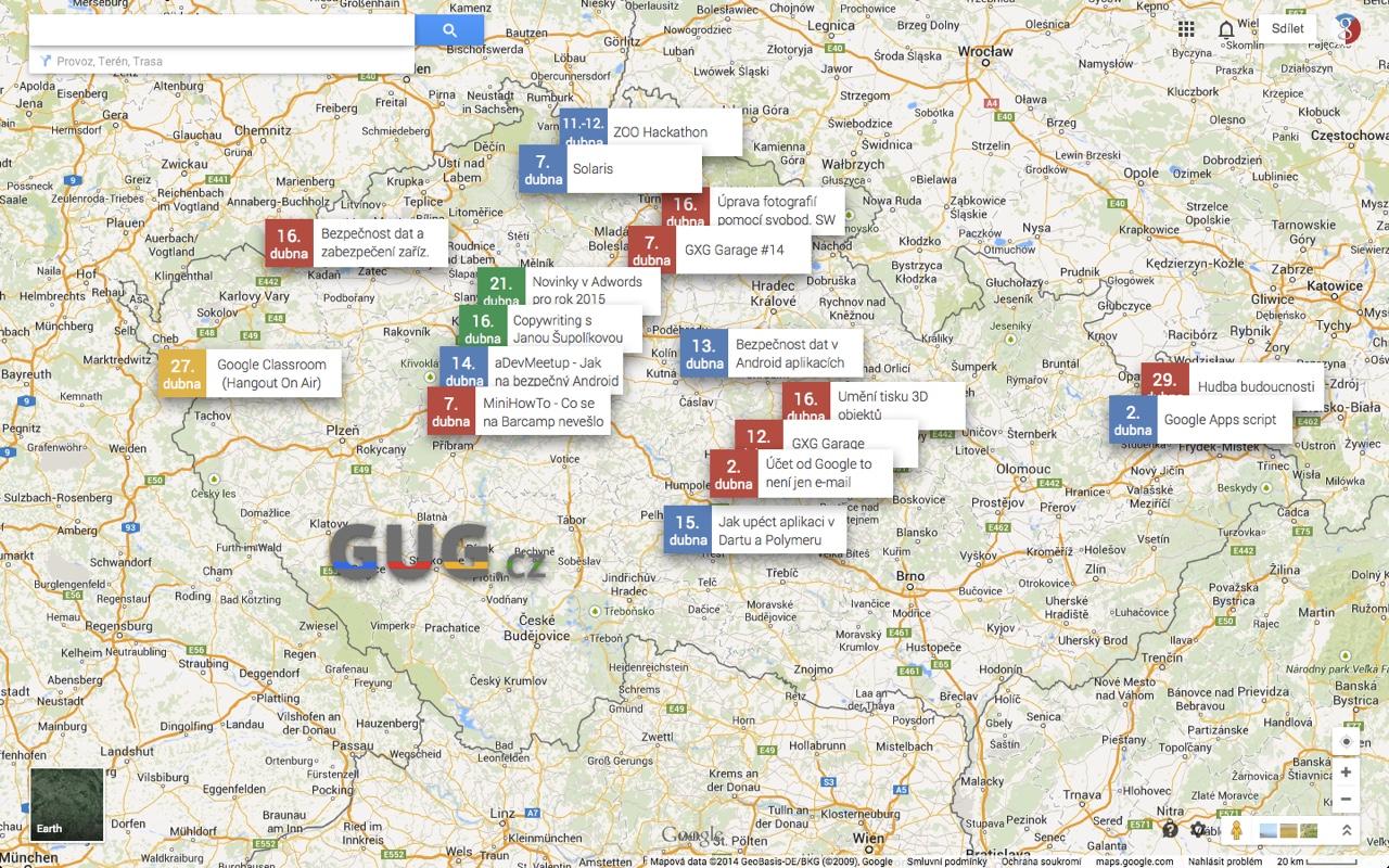 GUG.cz zve na technologicky zaměřené akce [duben, aktualizováno]