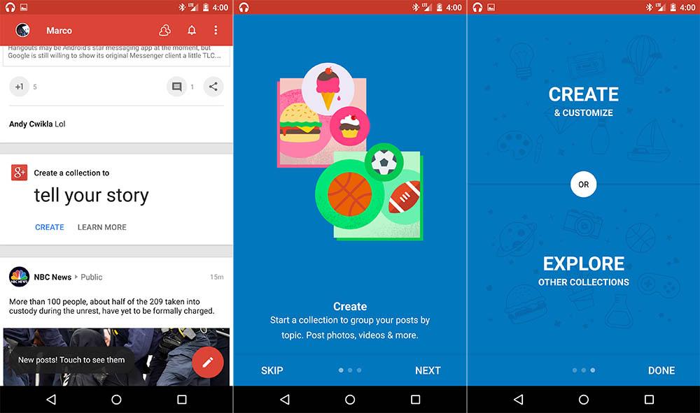 Google+ pro Android se dostává na verzi 5.4 a nese s sebou jednu velkou a skrytou novinku