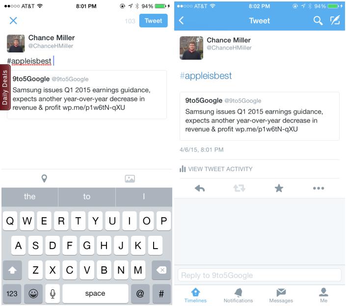 Twitter – vylepšené citování pro web a iOS jako první