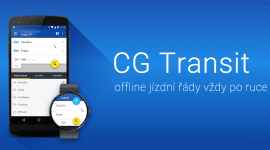 CG Transit jízdní řády v Material designu
