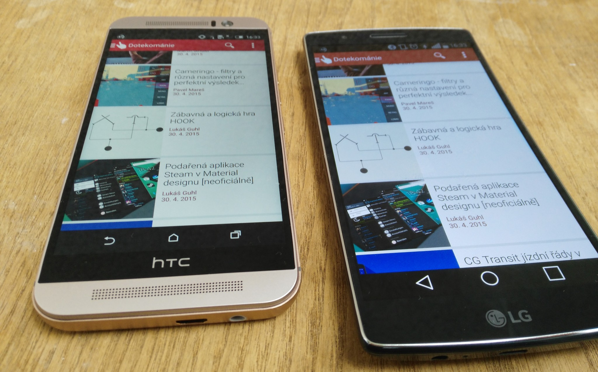 LG G Flex 2 vs. HTC One M9 – krátké srovnání během testování