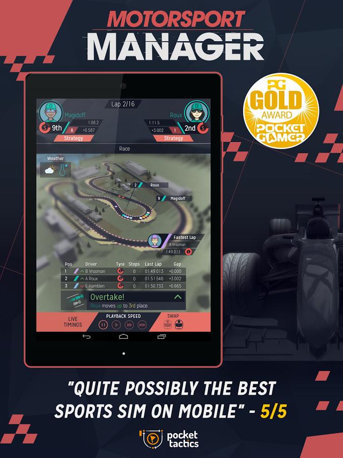Motorsport manager – Staňte se virtuálním manažerem Formule 1