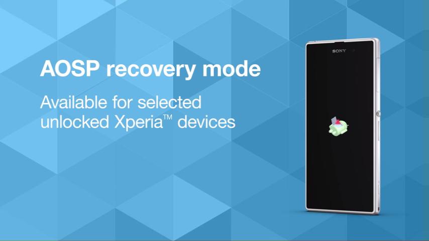 Sony vydalo recovery mod pro některé modely