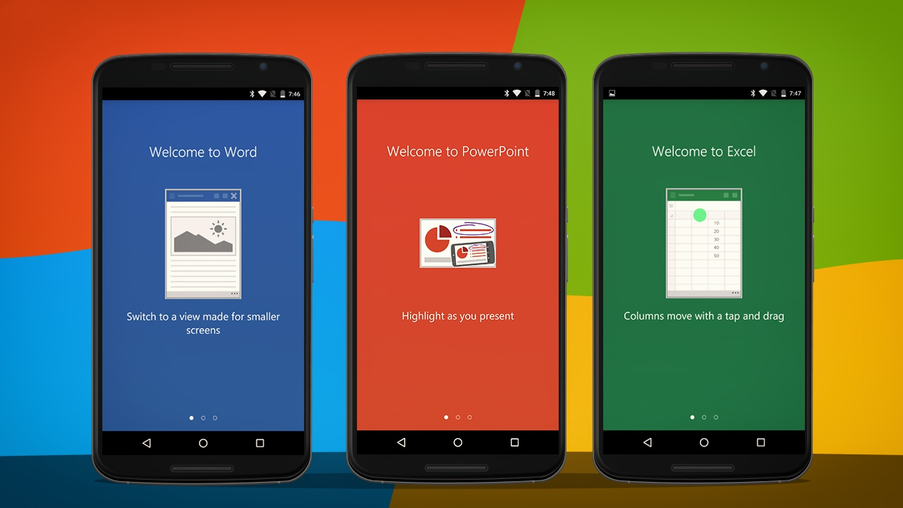 Word, Excel a PowerPoint nyní i pro telefony s Androidem