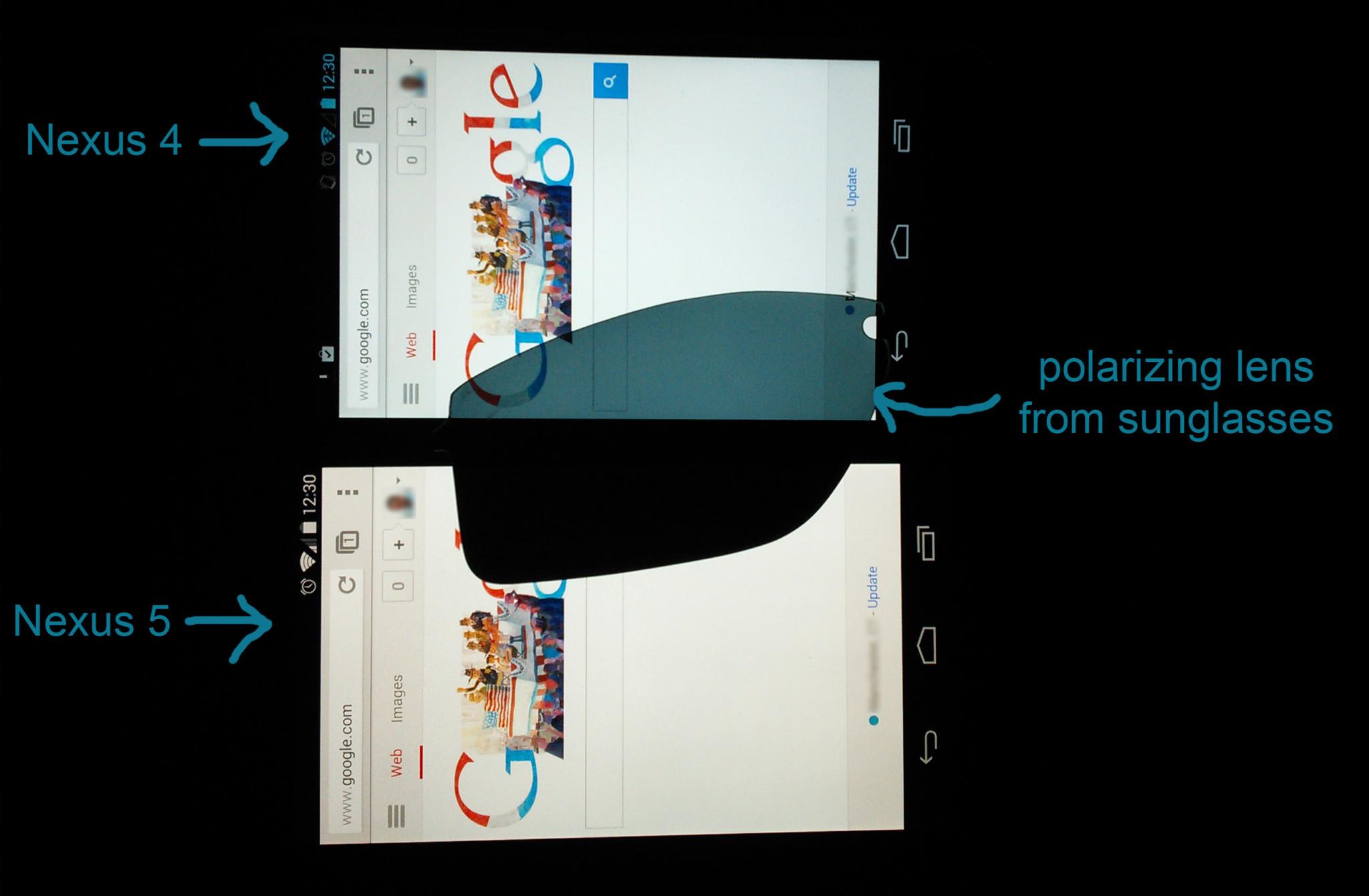 Polarizační brýle mohou znepříjemnit používání smartphonu