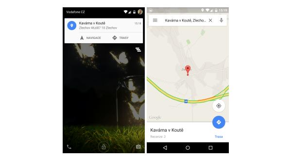 Google Mapy – nyní si můžete poslat odkaz z webu do zařízení