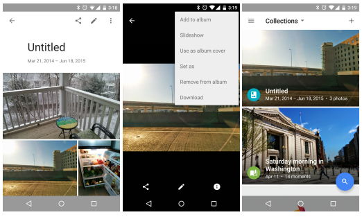 Aplikace Fotky Google získává drobná vylepšení [apk]