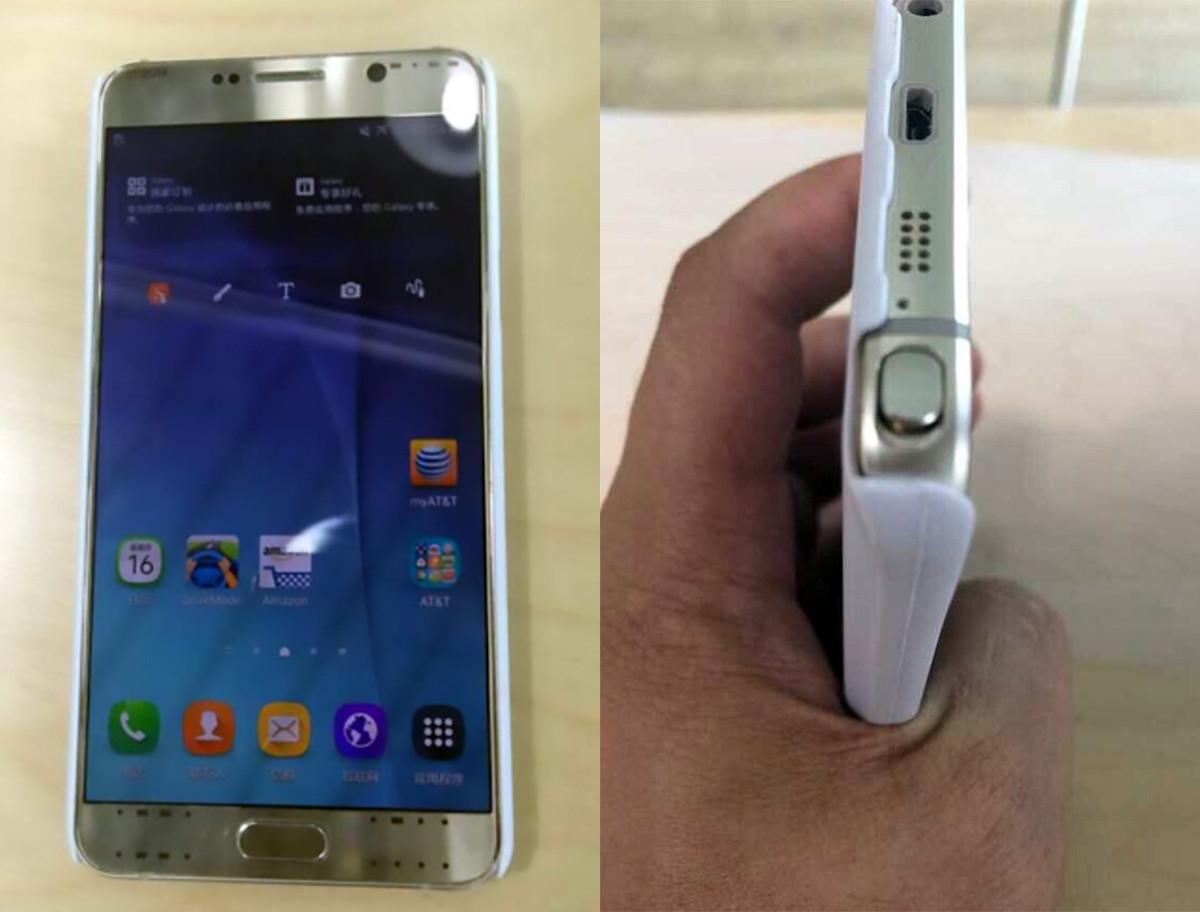 Samsung Galaxy Note 5 Gold na uniklých snímcích