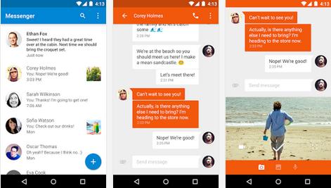 Google Messenger v1.4 – sdílení polohy, hromada samolepek a rychlý posuvník