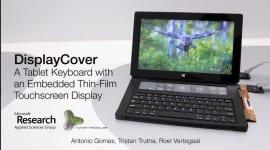 Microsoft DisplayCover – klávesnice s dotykovým e-ink displejem