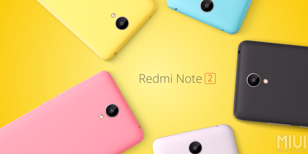 Xiaomi představilo Redmi Note 2 a Redmi Note 2 prime