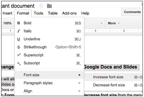 Change Relative Font Size