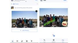 Editovací nástroje v nové aktualizaci aplikace Facebook