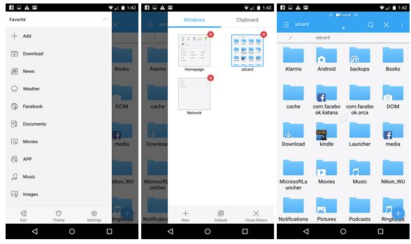 ES File Explorer v Material designu