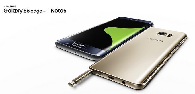 Samsung představil Galaxy Note 5 a Galaxy S6 edge+