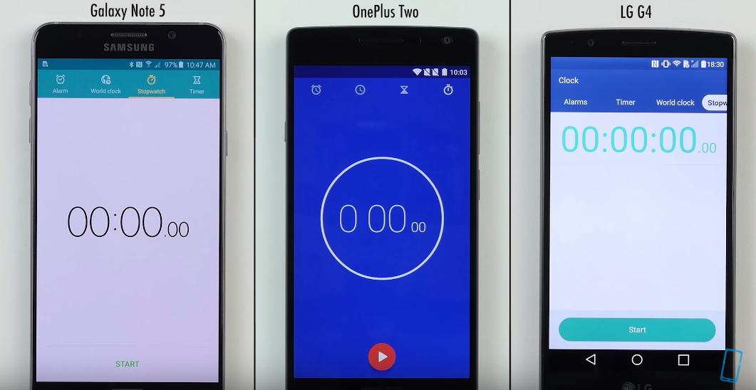 Kdo vyhrál v rychlosti? Galaxy Note 5 vs OnePlus Two vs LG G4