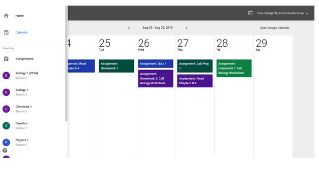 calendar-classroom-integration
