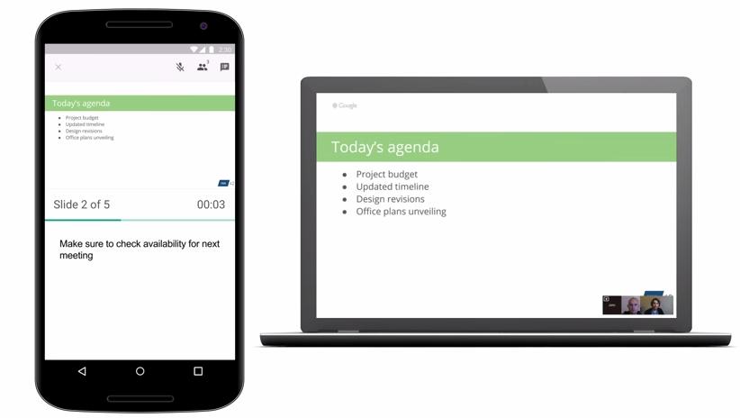 Google Prezentace získávají podporu Hangouts [Android, apk]