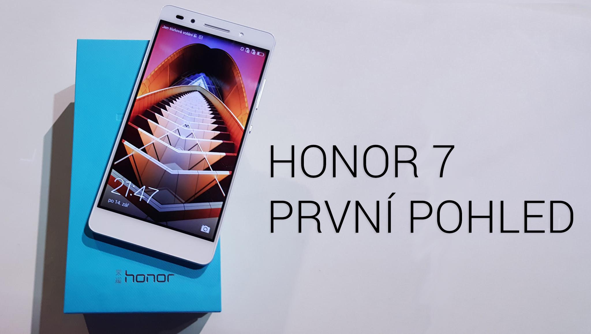 Honor 7 v ČR – první dojmy [video]