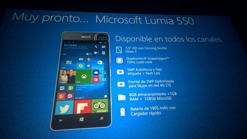 Únik snímků z prezentace potvrzuje parametry Lumie 950, 950 XL a 550